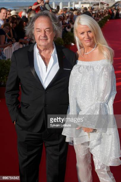 Gonzague Saint Bris and girlfriend attend red carpet of 3rd day of the 31st Cabourg Film Festival on June 16 2017 in Cabourg France