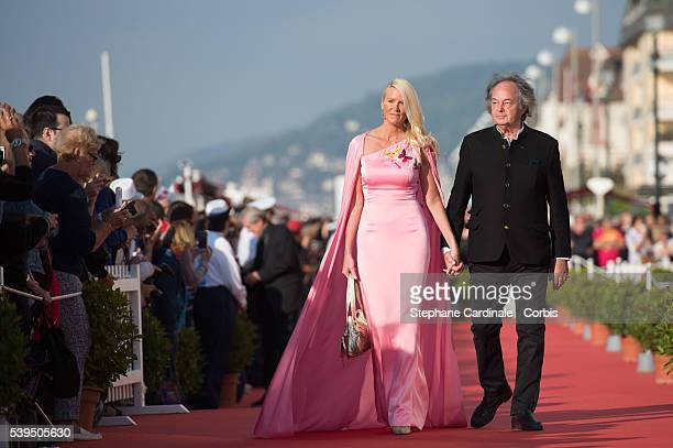 Gonzague Saint Bris and his companion attend the 30th Cabourg Film Festival Closing Ceremony on June 11 2016 in Cabourg France