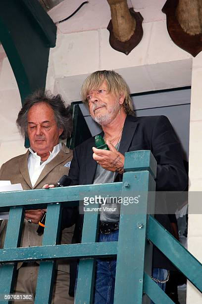 Gonzague Saint Bris and Renaud attends 21th 'La Foret des Livres' at ChanceauxPres Loches on August 28 2016 in Loches France