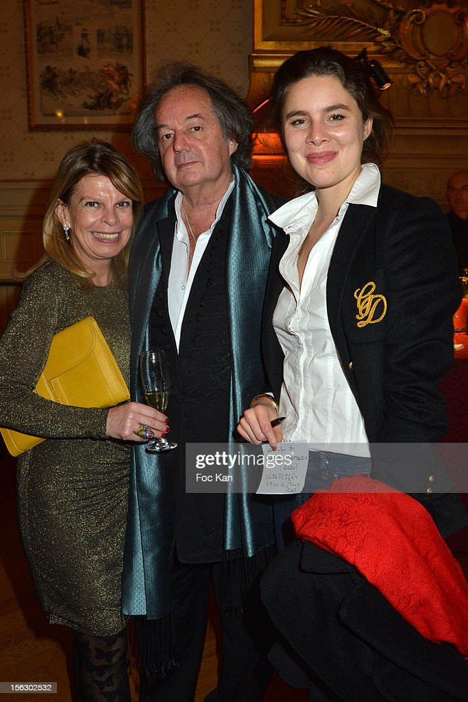 Gonzague Saint Bris (C) and Two guests attend the 20th 'Gala Pour L'Espoir' At the Theatre du Chatelet on November 12, 2012 in Paris, France.