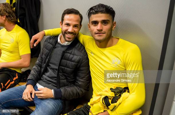 Gonzalo Castro and Mahmoud Dahoud of Borussia Dortmund in the changing room after the final whistle during the Bundesliga match between Borussia...