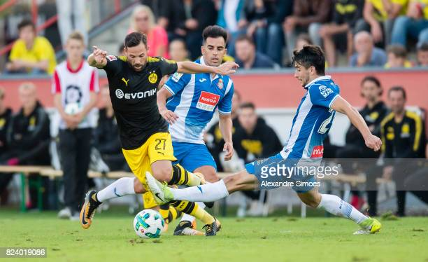 Gonzalo Castro of Borussia Dortmund in action during a friendly match between Espanyol Barcelona and Borussia Dortmund as part of the training camp...