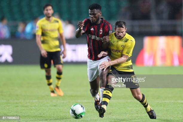 Gonzalo Castro of Dortmund in action against Franck Kessie of AC Milan during the 2017 International Champions Cup football match between AC Milan...