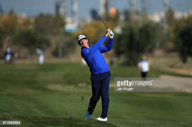 Gonzalo FernandezCastano of Spain in action during the final round of the European Tour Qualifying School Final Stage at Lumine Golf Club on November...