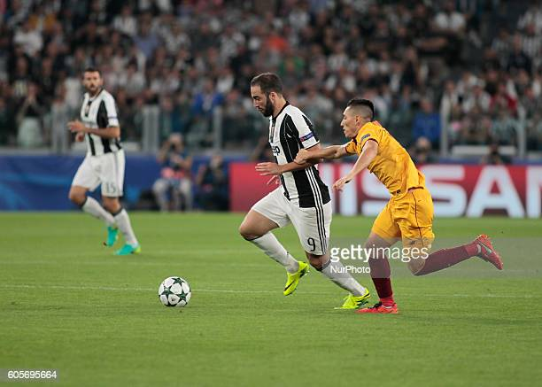 Gonzalo Higuain during Champions League match between Juventus v Sevilla in Turin on September 14 2016