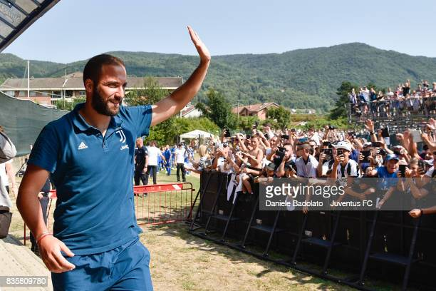 Gonzalo Higuain during the preseason friendly match between Juventus A and Juventus B on August 17 2017 in Villar Perosa Italy