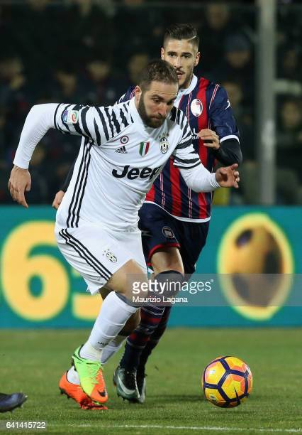 Gonzalo Higuain of Juventus during the Serie A match between FC Crotone and Juventus FC at Stadio Comunale Ezio Scida on February 8 2017 in Crotone...