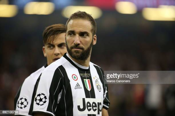 Gonzalo Higuain of Juventus FC during the UEFA Champions League final match between Juventus FC and Real Madrid CF Real Madrid beat Juventus 41 to...