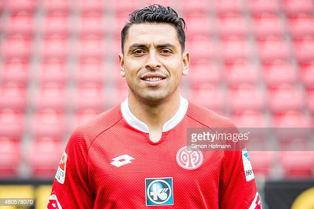 Gonzalo Jara poses during the 1 FSV Mainz 05 Team Presentation at Coface Arena on July 12 2015 in Mainz Germany