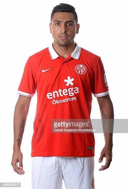 Gonzalo Jara poses during the DFL Media Day of 1 FSV Mainz 05 at Coface Arena on July 18 2014 in Mainz Germany