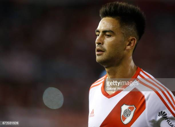 Gonzalo Martinez of River Plate looks on during a match between River Plate and Sarmiento as part of Torneo Primera Division 2016/17 at Monumental...