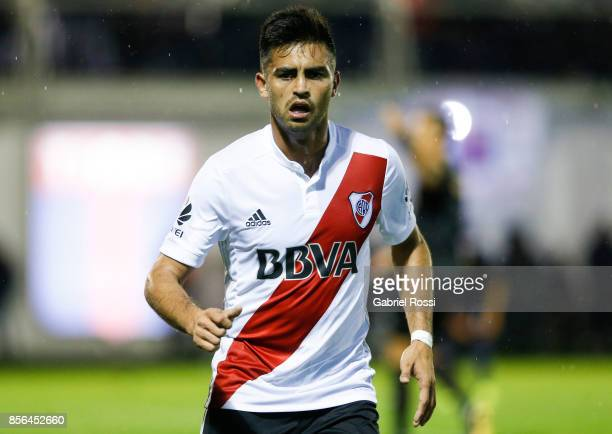 Gonzalo Martinez of River Plate looks on during a match between Tigre and River Plate as part of Superliga 2017/18 at Jose Dellagiovanna Stadium on...