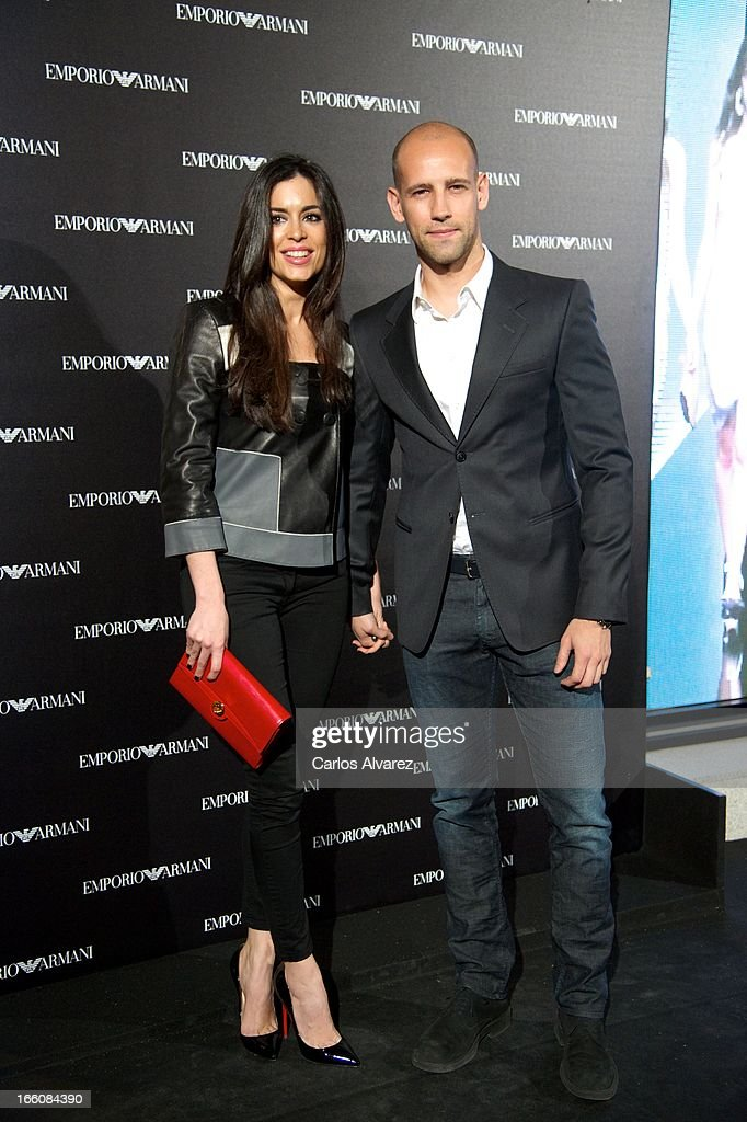 Gonzalo Miro and Ana Isabel Medinabeitia attend the Emporio Armani Boutique opening on April 8, 2013 in Madrid, Spain.