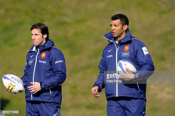Gonzalo QUESADA / Emile NTAMACK Rugby Entrainement France Marcoussis
