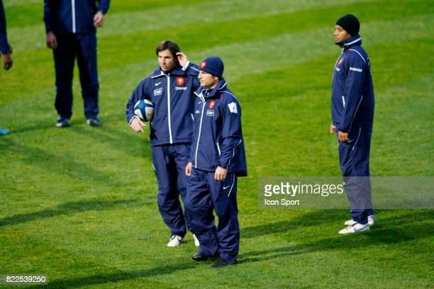 Gonzalo QUESADA / Marc LIEVREMONT / Emile NTAMACK Entrainement equipe de France de Rugby CNR Marcoussis