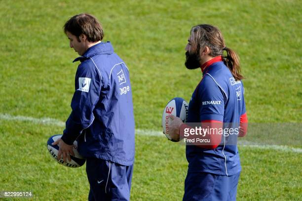 Gonzalo QUESADA / Sebastien CHABAL Entrainement Equipe de France avant Angleterre/France CNR Marcoussis