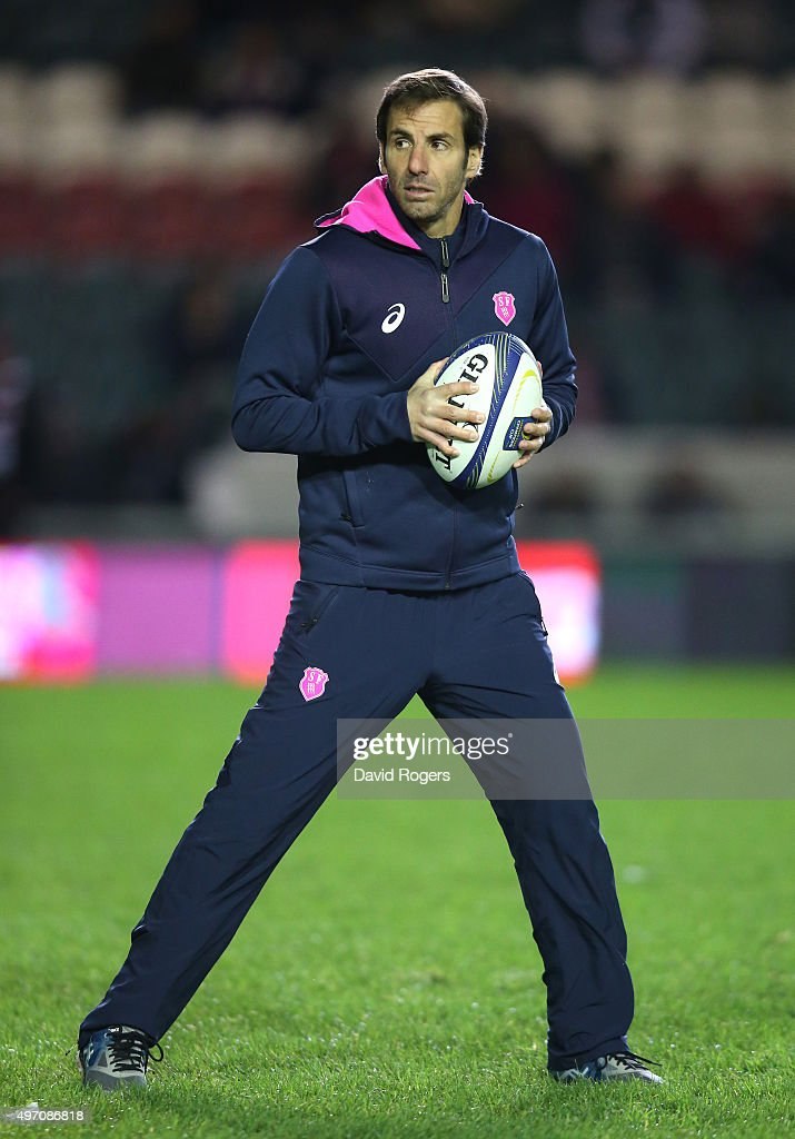 <a gi-track='captionPersonalityLinkClicked' href=/galleries/search?phrase=Gonzalo+Quesada&family=editorial&specificpeople=685928 ng-click='$event.stopPropagation()'>Gonzalo Quesada</a>, the Stade Francais head coach looks on during the Eurpean Rugby Champions Cup match between Leicester Tigers and Stade Francais at Welford Road on November 13, 2015 in Leicester, England.