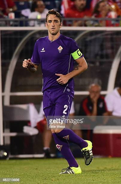Gonzalo Rodriguez of ACF Fiorentina in action during an International Champions Cup 2015 match against SL Benfica at Rentschler Field on July 24 2015...