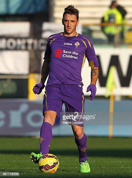 Gonzalo Rodriguez of ACF Fiorentina in action during the Serie A match between Parma FC and ACF Fiorentina at Stadio Ennio Tardini on January 6 2015...