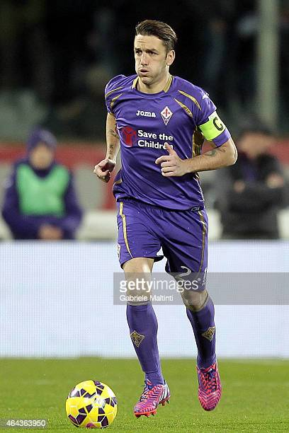 Gonzalo Rodriguez of ACF Fiorentina in action during the Serie A match between ACF Fiorentina and Torino FC at Stadio Artemio Franchi on February 22...