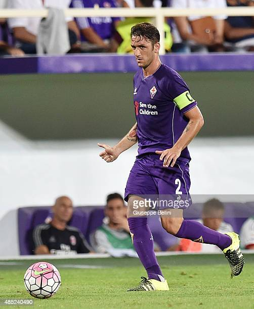 Gonzalo Rodriguez of Fiorentina in action during the Serie A match between ACF Fiorentina and AC Milan at Stadio Artemio Franchi on August 23 2015 in...