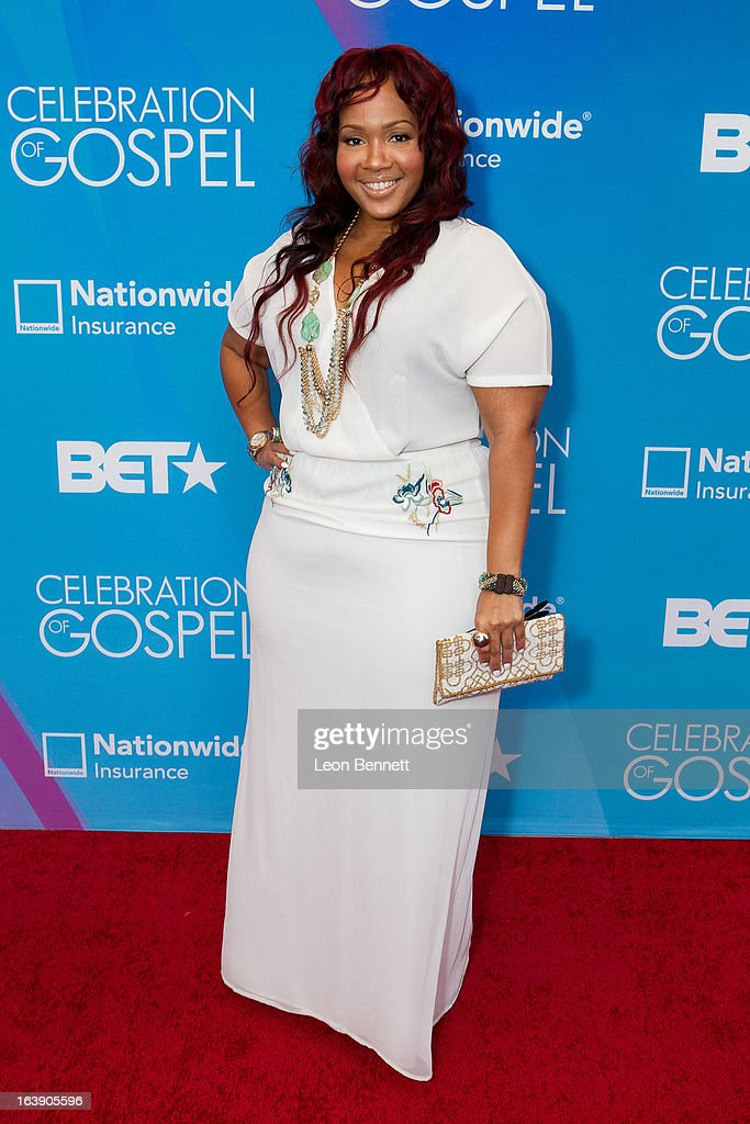 Goo Goo arrives at the BET Network's 13th Annual 'Celebration of Gospel' at Orpheum Theatre on March 16, 2013 in Los Angeles, California.