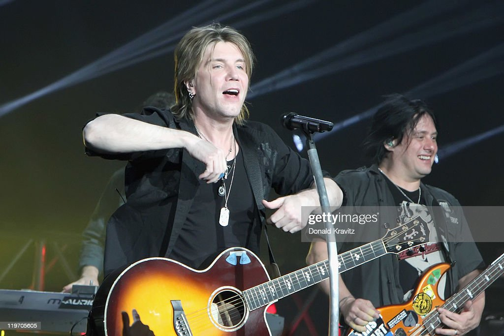 Goo Goo Dolls lead singer <a gi-track='captionPersonalityLinkClicked' href=/galleries/search?phrase=John+Rzeznik&family=editorial&specificpeople=220876 ng-click='$event.stopPropagation()'>John Rzeznik</a> and guitarist <a gi-track='captionPersonalityLinkClicked' href=/galleries/search?phrase=Robby+Takac&family=editorial&specificpeople=778886 ng-click='$event.stopPropagation()'>Robby Takac</a> performs at the Tropicana Casino on July 23, 2011 in Atlantic City, New Jersey.