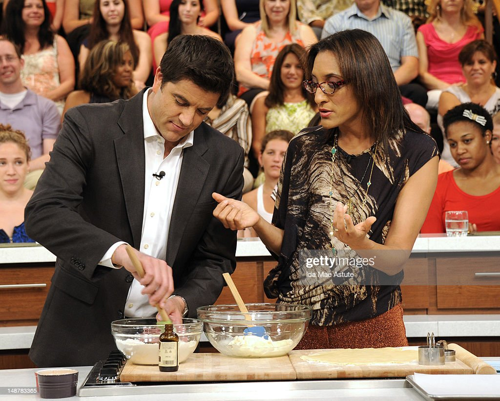 THE CHEW - (airs 7.19.12) - 'Good Afternoon America' co-hosts Josh Elliott and Lara Spencer visit 'The Chew.' 'The Chew' airs MONDAY - FRIDAY (1-2pm, ET) on the ABC Television Network. HALL