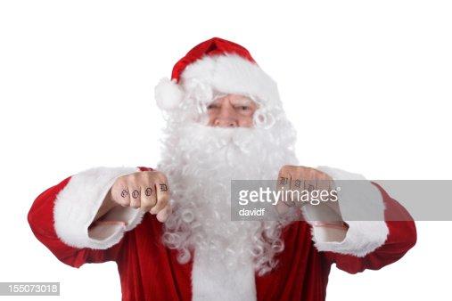 Good and Bad Santa Knuckles