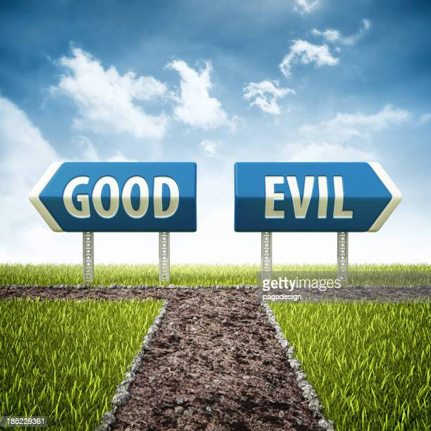 good and evil crossroad