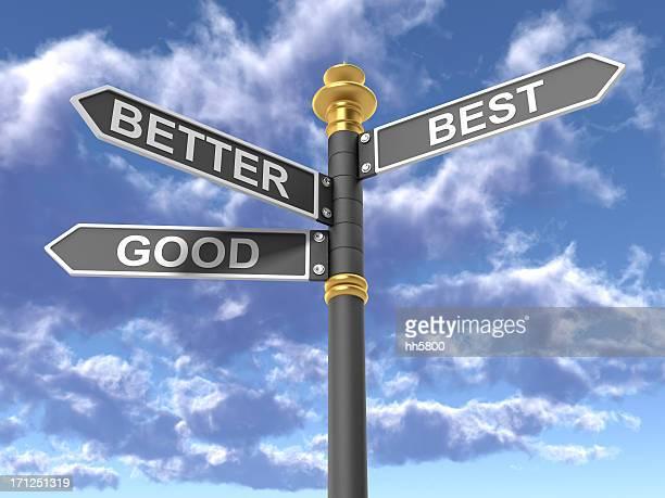 Good Better  Best Directional Sign