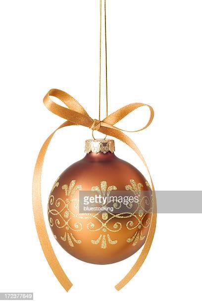 Boule de Noël or scintillant