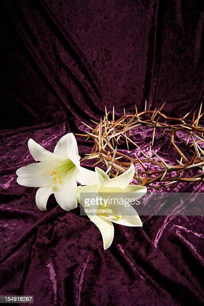 Good Friday and Easter Background with Copyspace