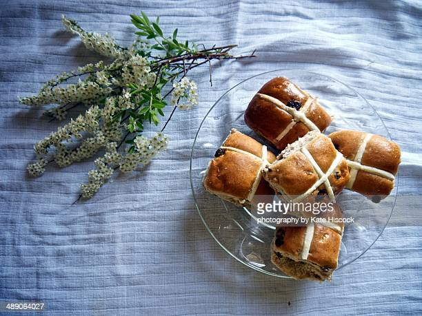 Good Friday Hot Cross Buns and Blossoms