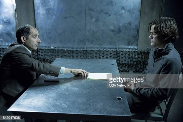 COLONY 'Good Intentions' Episode 208 Pictured Peter Jacobson as Proxy Alan Snyder Alex Neustaedter as Bram Bomwan