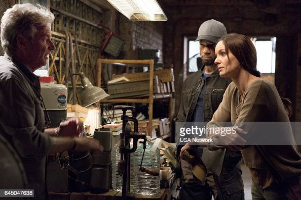 COLONY 'Good Intentions' Episode 208 Pictured William Russ as Hennessey Tory Kittles as Broussard Sarah Wayne Callies as Katie Bowman