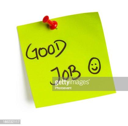 Good Job Note