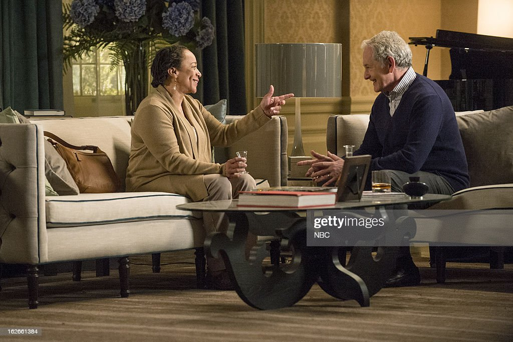 DECEPTION -- 'Good Luck With Your Death' Episode 109 -- Pictured: (l-r) S. Epatha Merkerson as Beverly Padget, Victor Garber as Robert Bowers --