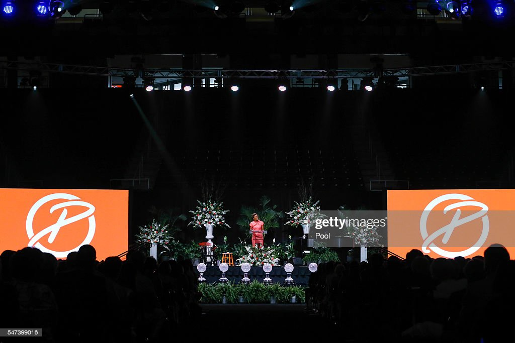 Good Morning America anchor Robin Roberts speaks during a ceremony to celebrate the life of former Tennessee women's basketball coach Pat Summitt at...
