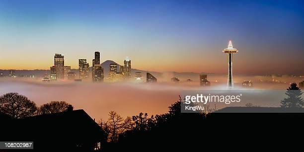 Buenos días de la ciudad de Seattle, Estados Unidos