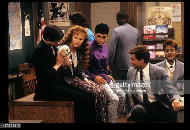 CLASS 'Good Mourning' Airdate November 22 1989 LR DAN FRISCHMANKHRYSTYNE HAJEBRIAN ROBBINSMICHAEL DELORENZODAN SCHNEIDERTONY O