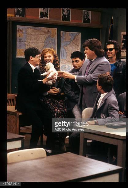 CLASS 'Good Mourning' Airdate November 22 1989 LR DAN FRISCHMANKHRYSTYNE HAJEMICHAEL DELORENZODAN SCHNEIDERTONY O