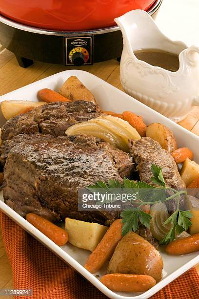 Good oldfashioned Yankee pot roast makes a satisfying meal all the more so if you have a slow cooker allowing you to assemble dinner early then walk...