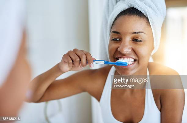 Good oral hygiene begins every morning