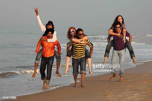 Good time on the beach in India