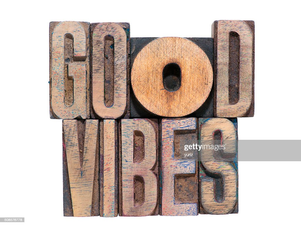 Verbreite positive Vibes isoliert : Stock-Foto