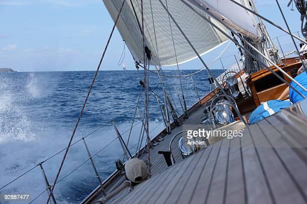 Good wind sailing at the regatta.