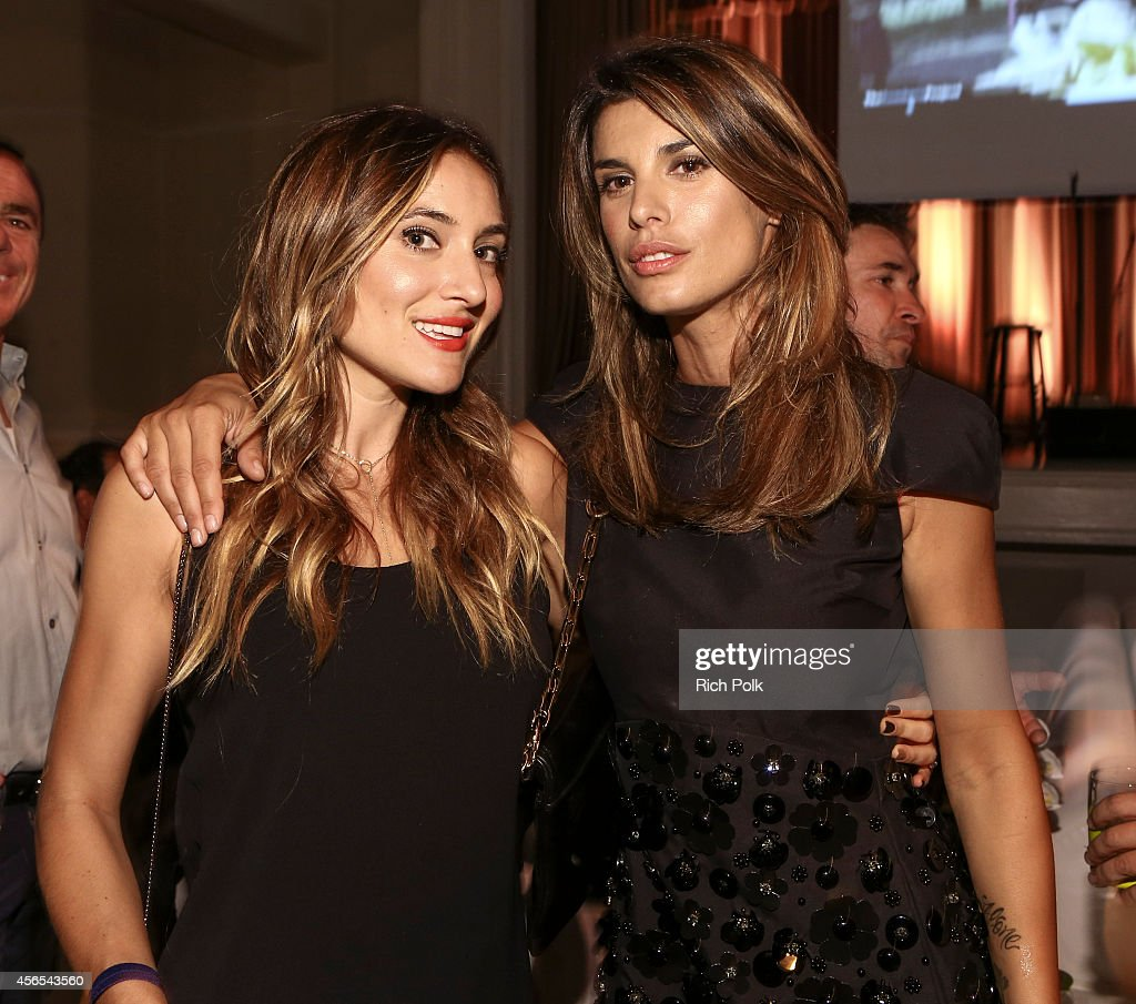 Goodwill Ambassador Elisabetta Canalis and friend attend the Samburu Splash Bash Event on September 27 2014 in Santa Monica California
