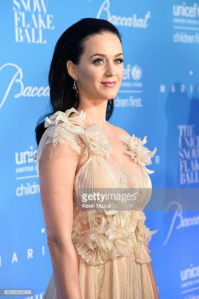 Goodwill Ambassador Honoree Audrey Hepburn Humanitarian Award Katy Perry attends the 12th annual UNICEF Snowflake Ball at Cipriani Wall Street on...