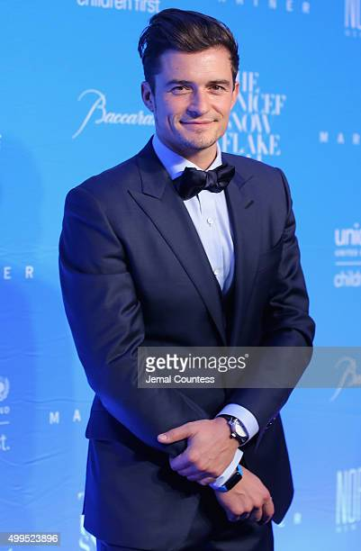 Audrey Hepburn Humanitarian Award Orlando Bloom attends the 11th Annual UNICEF Snowflake Ball Honoring Orlando Bloom Mindy Grossman And Edward G...